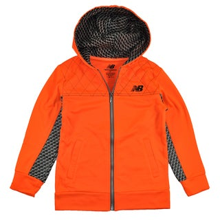 New Balance Big Boys' High Tech Hoodie in Neon Orange