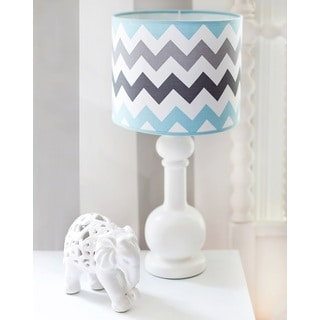 My Baby Sam Aqua Chevron Lamp