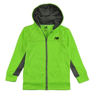 New Balance Boy's High Tech Lime Green Hoodie
