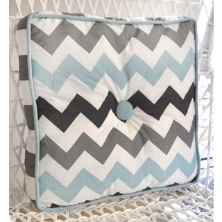 My Baby Sam Aqua Chevron Throw Pillow