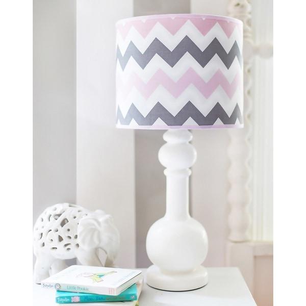 My Baby Sam Pink Chevron Lamp