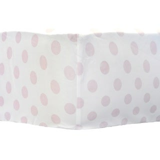 My Baby Sam Pink Polka Dot Crib Sheet