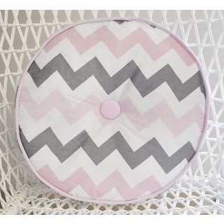 My Baby Sam Pink Chevron Throw Pillow