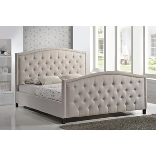 LuXeo Camden King-size Tufted Palazzo Mist Colored Contemporary Upholstered Bed
