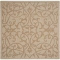 Safavieh Handmade Impressions Light Brown Wool Rug (6' Square)