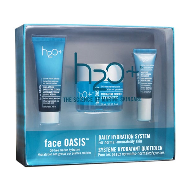 H2O+ Face Oasis 3-piece Daily Hydation System for Normal or Oily Skin