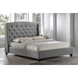 LuXeo Laguna Tufted Upholstered Contemporary Grey Platform Bed