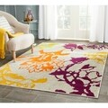 Safavieh Porcello Light Grey/ Purple Rug (5'2 x 7'6)