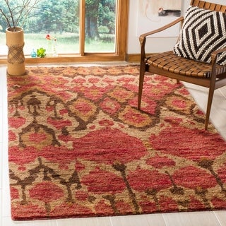 Safavieh Hand-knotted Bohemian Natural/ Gold Jute Rug (5' x 8')