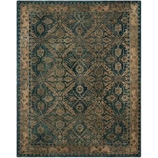 Safavieh Handmade Anatolia Navy/ Ivory Wool Rug (9' x 12')