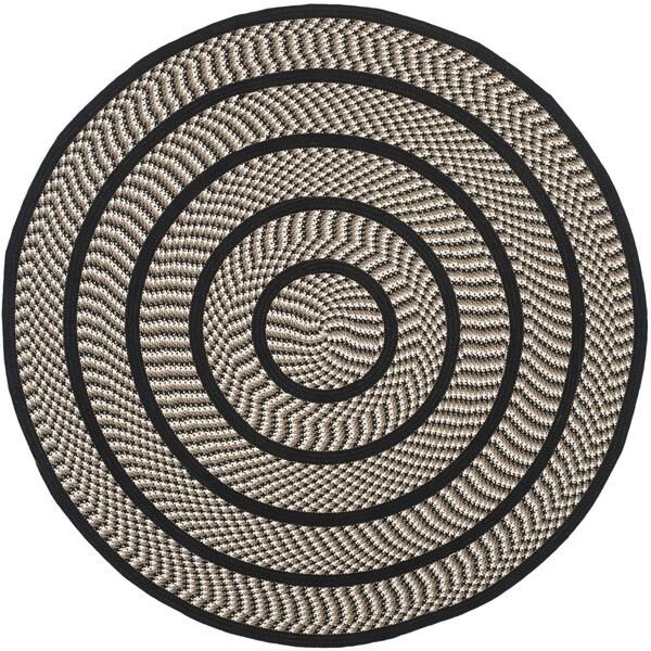 Safavieh Hand Woven Reversible Braided Ivory Black Rug 6