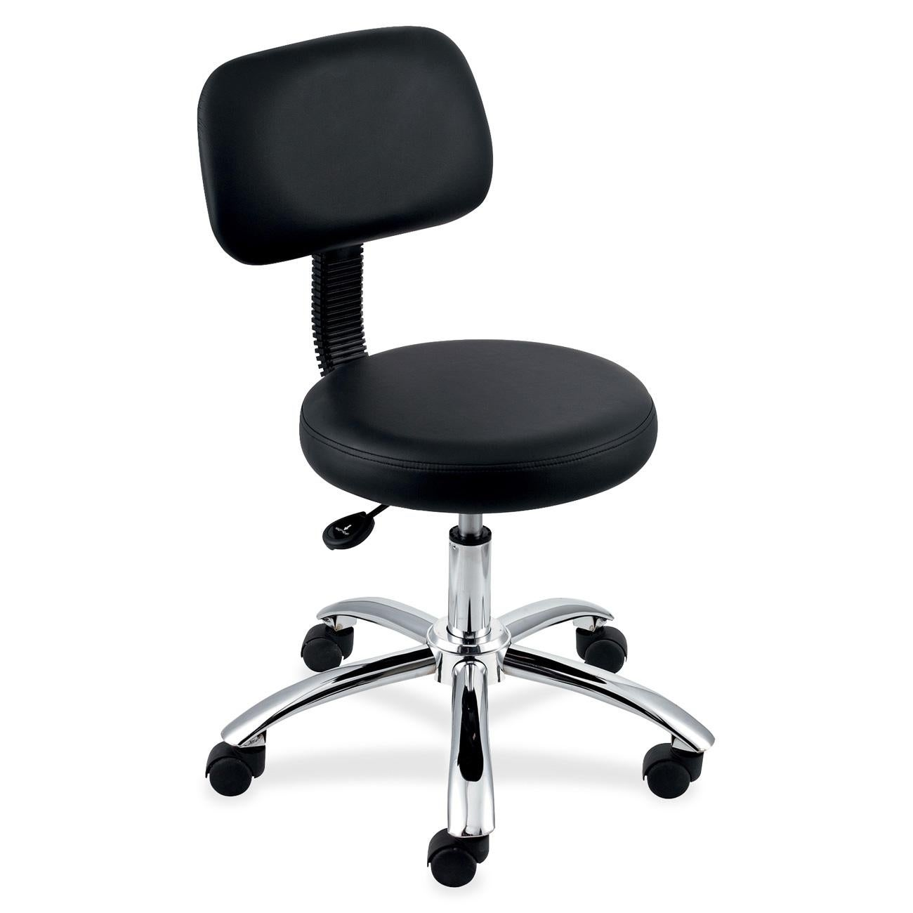 Lorell Round Black Stool with Back at Sears.com
