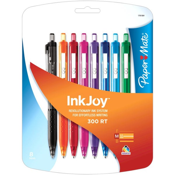 InkJoy 300RT Fashion Assorted 1mm Ballpoint Pens (Pack of 8)