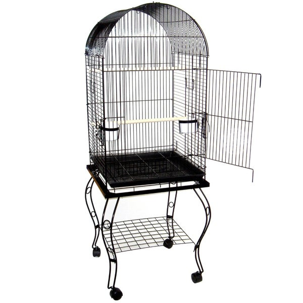 YML 20-inch Dome Top Parrot Cage with Stand 13360183