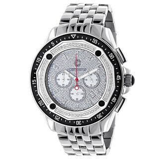 Centorum Men's 3/5ct White Diamond Falcon Chronograph Watch