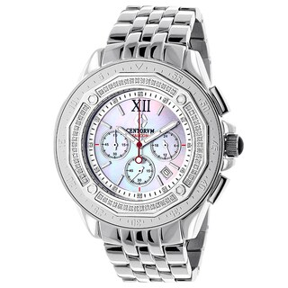 Centorum Men's Falcon 1/2ct TDW Diamond Chronograph Watch