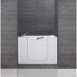 "Aston 55""x30"" Jetted Walk-In Tub in White"