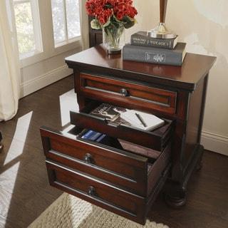 Elliot Warm Brown Distressed 2-drawer Nightstand