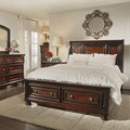 Elliot Distressed Warm Brown 5-piece 2-drawer Wood Sleigh Bed Set