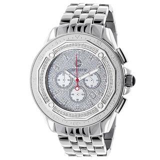 Centorum Men's Falcon 1/2ct TDW Paved Diamond Stainless Steel Watch