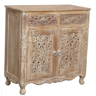 Carver 2-drawer 2-door Wood Cabinet