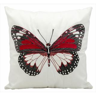 Nourison Mina Victory Red Butterfly Indoor/ Outdoor 18-inch Throw Pillow
