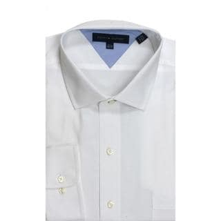 Tommy Hilfiger Slim Fit Pique White Dress Shirt