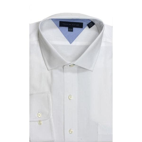 Tommy Hilfiger Slim Fit Pique White Dress Shirt