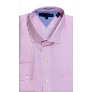 Tommy Hilfiger Slim Fit Pique Pink Dress Shirt