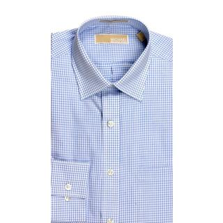 Michael Kors Regular Fit Broadcloth Check Stream Dress Shirt