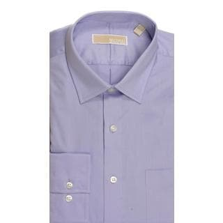 Michael Kors Regular Fit Broadcloth Solid Barnished Lilac Dress Shirt