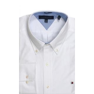Tommy Hilfiger Regular Fit Oxford Solid White Dress Shirt