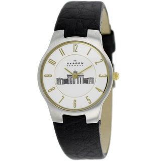 Skagen Women's 433SSGL1 Classic Leather Watch