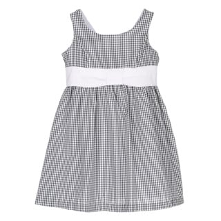 ABS KIDS by Allen Schwartz Girls Black and White Checkered Shirt Dress