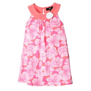 ABS KIDS by Allen Schwartz Girls Coral and White Floral Dress