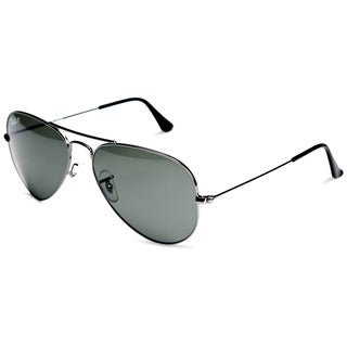 Ray-Ban Aviator Polarized Lenses Sunglasses 55mm - Gunmetal Frame/Green Polarized Lenses