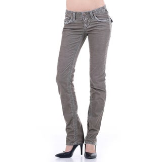 Stitches Women's Straight Leg Comfort Thin Cords Trouser Jeans