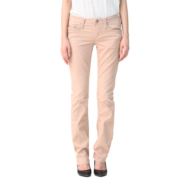 Stitch's Women's Light Brown Soft Stretch Corduroy Trousers