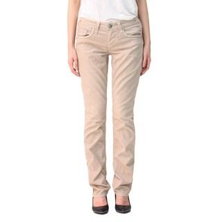 Stitch's Women's Light Wash Straight Leg Khaki Cords Jeans