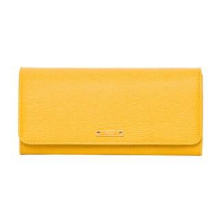 Fendi Elite Yellow Vitello Leather Continental Wallet