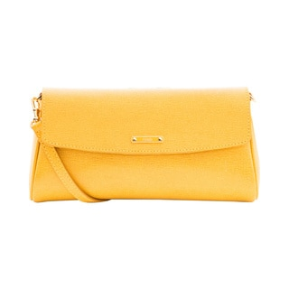 Fendi 'Crayons' Small Yellow Leather Crossbody
