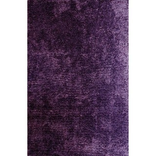 Christopher Knight Home Soft Shag Deep Purple Area Rug (5' x 8')