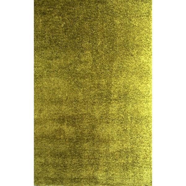 Somette Soft Shag Emerald Green Area Rug (5' X 8