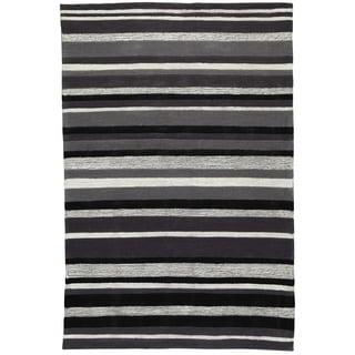 Christopher Knight Home Trio Lux Stripe Grey Area Rug (1'10 x 2'10)