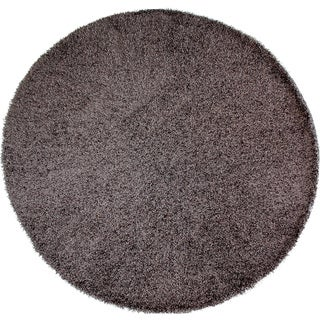Christopher Knight Home Goa Dark Grey Super Thick Shag Area Rug (7'6 Round)