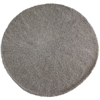 Christopher Knight Home Goa Silver Beige Super Thick Shag Area Rug (7'6 Round)