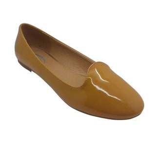 Women's Yellow Patent Flats