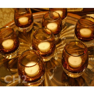 Mikasa Amber Solaris Votive Holders (Set of 8)