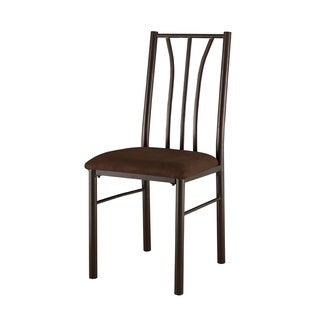 Gunmetal/ Warm Cherry Microfiber-seat Side Chairs (Set of 2)