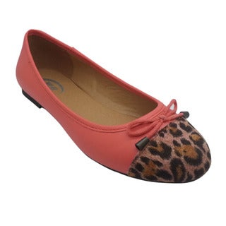 Wi-Fi Women's Leopard and Bow Pink Flats